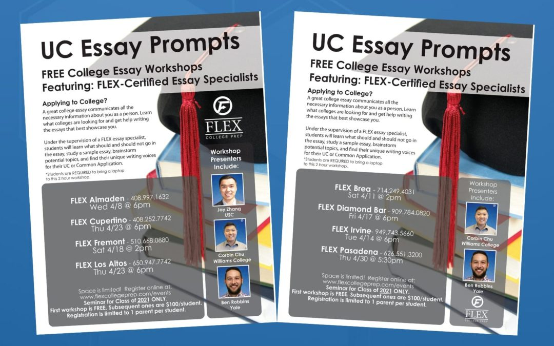 UC Essay Prompts Workshop April 2020